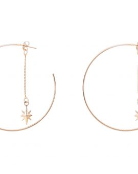 Shooting Star Hoop Earrings